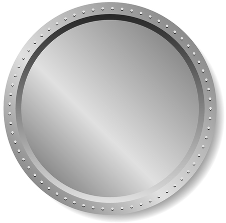 Illustration pour Precious metal badge, button isolated on white - image libre de droit