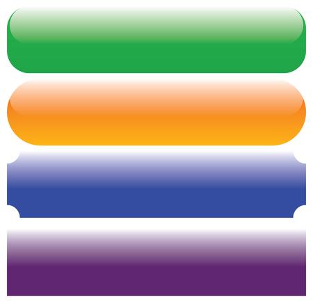 Illustration pour Rectangle button, banner, plate backgrounds with empty space. Buttons, banners - image libre de droit