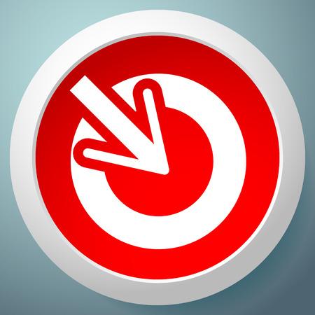 Illustration pour Position, accuracy, alignment concept icon, Cursor points inside a circle - image libre de droit