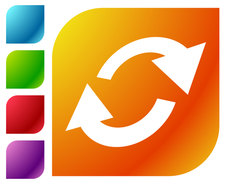 Illustration pour Swap, flip icon. Circular, oval arrows icon - image libre de droit