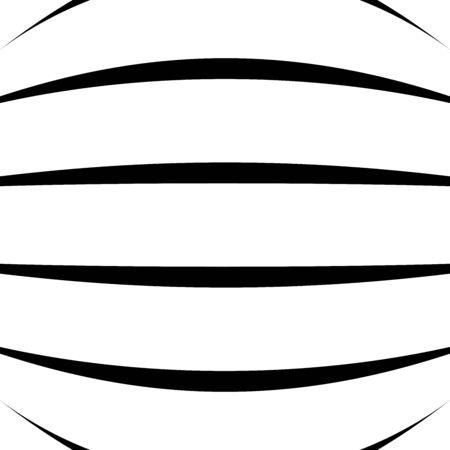 Spherical, globe circular distort effect pattern. Curved bulge, protrude warp effect. Convex globular, extrusion, bump deformation