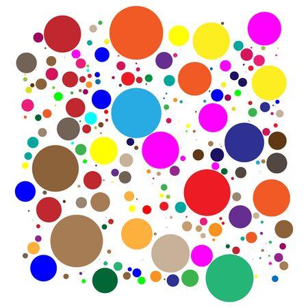 Illustration pour Random dots, circles pattern. Pontillist / screntone /  half-tone  graphic element - image libre de droit