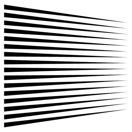 Illustration pour Horizontal lines, stripes. Straight parallel streaks, strips. Edgy pinstripe geometric pattern. Linear, lineal geometric design. - image libre de droit