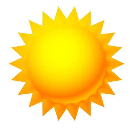 Illustration for Sun clip-art. Sun graphics, symbol or icon vector – Stock vector illustration, Clip art graphics - Royalty Free Image
