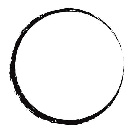 Photo pour Grungy, textured circle, Grunge effect circular element. Smudge, smear paint brush effect. Liquid splatter, splash drawing sketchy, sketch circle. Ink, tint, dye blob, blotch and splodge, blot vector - image libre de droit