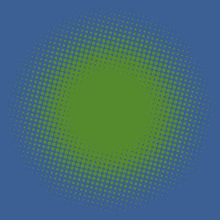 Illustration pour Colorful halftone vector pattern, texture design element. Circles, dots, screentone illustration. Freckle, stipple-stippling, speckles illustration. Pointillist vector art - image libre de droit