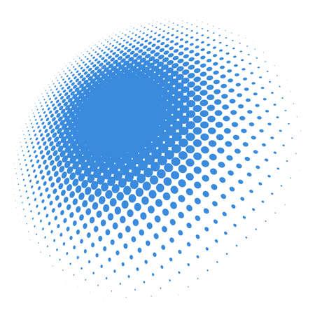 Illustration pour Colorful halftone vector pattern, texture in 3d perspective. Circles, dots, screentone illustration. Freckle, stipple-stippling, speckles illustration. Pointillist vector art - image libre de droit