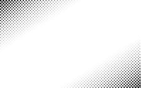Illustration pour Squares halftone geometric background pattern and texture vector illustration - image libre de droit