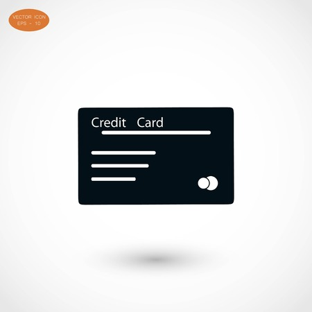 Credit card icon, flat design best vector icon