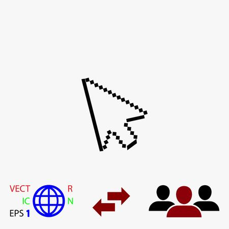 computer arrow icon, flat design best vector icon