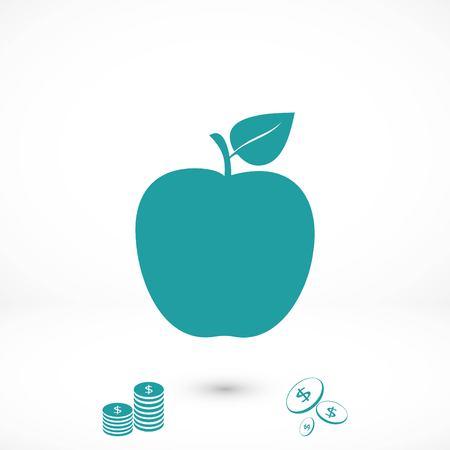 apple icon vector, flat design best vector icon