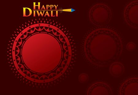 Illustration for creative traditional design, happy diwali festival greeting or business promotion poster design, festival of light - Royalty Free Image