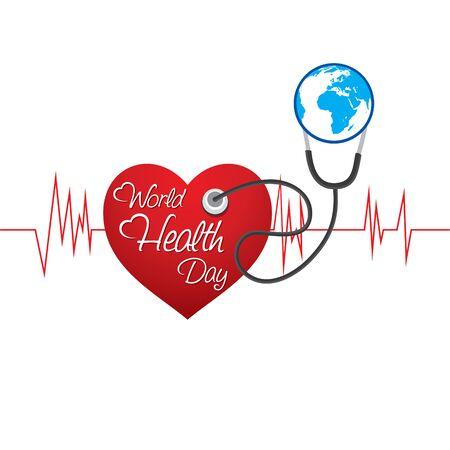 Illustration for vector illustration of world health day concept design - Royalty Free Image