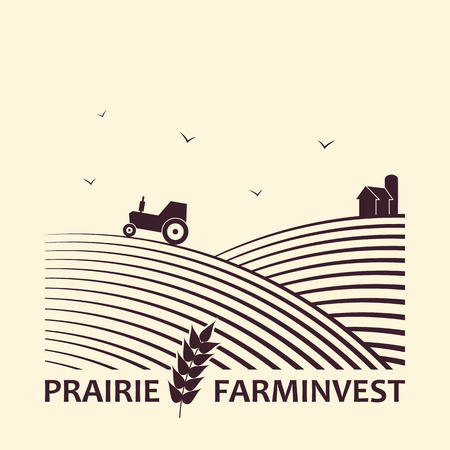Vector logo concept  for farm investment business.