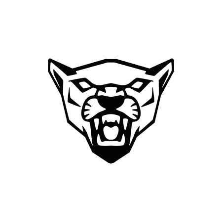 Illustration pour puma head sign. Design element for sport team logo, emblem, badge, mascot. Vector illustration - image libre de droit