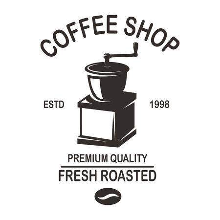 Illustration pour Coffee house emblem template. - image libre de droit