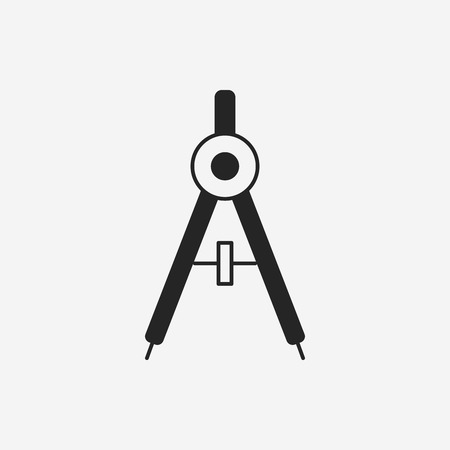 Stationery compasses icon