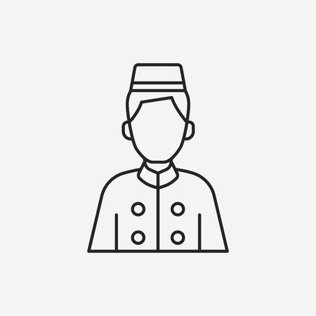 Illustration pour hotel bellman line icon - image libre de droit