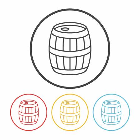 wine barrel line icon: Royalty-free vector graphics