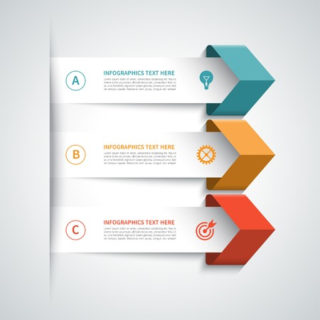 Illustration for Modern arrow infographics elements - Royalty Free Image