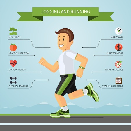 Fitness infographics concept. Vector illustration