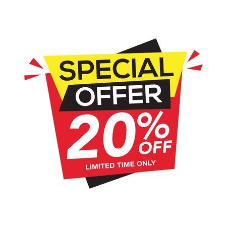 Illustration pour Sale and special offer tag, price tags, Sales Label, banner, Vector illustration. - image libre de droit