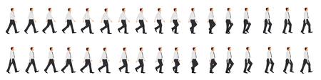Ilustración de Business man walk cycle animation sprite sheet - Imagen libre de derechos