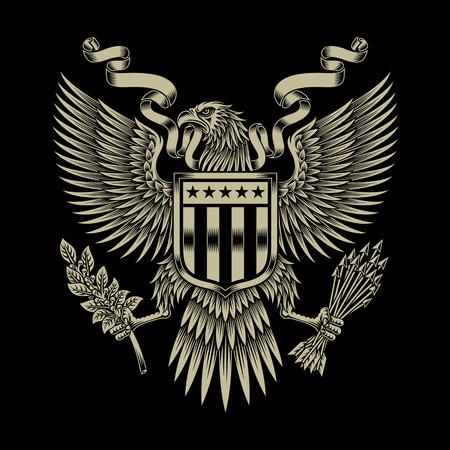 Illustration for American Eagle Emblem - Royalty Free Image