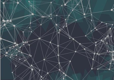 Foto de Network of connections against plexus networks on black background. global networking and business technology concept - Imagen libre de derechos