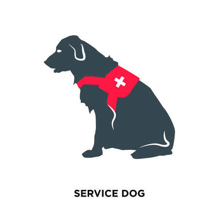 Illustration pour service dog icon isolated on white background for your web, mobile and app design - image libre de droit