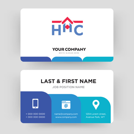 Home Health Care Business Card Design Template Visiting