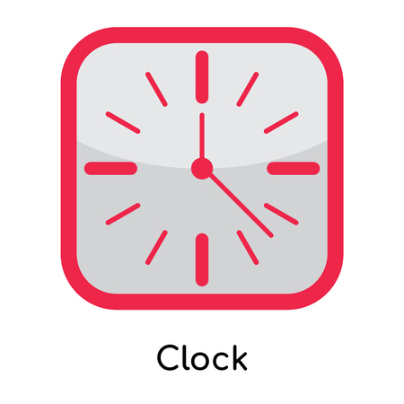Clock icon isolated on white background for your web and mobile app design