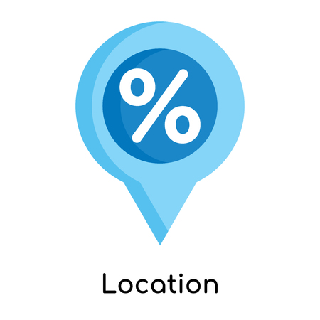 Location icon isolated on white background for your web and