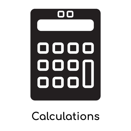 Calculations icon isolated on white background for your web and mobile app design