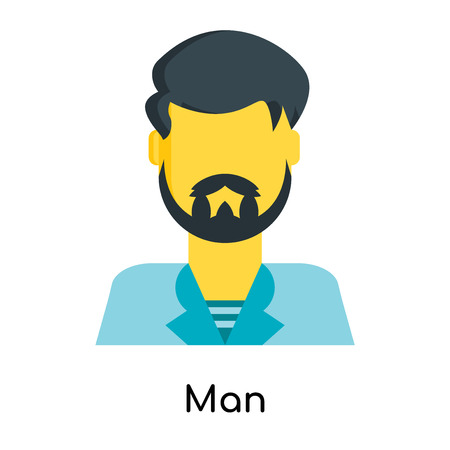 Man icon isolated on white background for your web and mobile app design