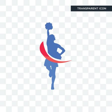 Ilustración de cheerleader vector icon isolated on transparent background, cheerleader logo concept - Imagen libre de derechos