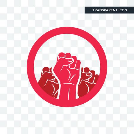 Ilustración de social justice vector icon isolated on transparent background, social justice logo concept - Imagen libre de derechos