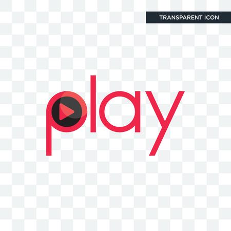 Ilustración de play vector icon isolated on transparent background, play logo concept - Imagen libre de derechos