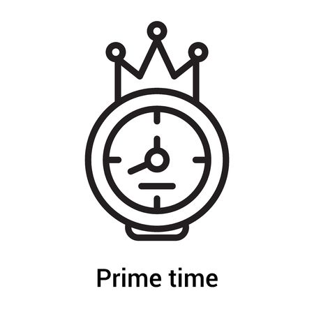 Illustration pour Prime time icon vector isolated on white background for your web and mobile app design, Prime time concept - image libre de droit