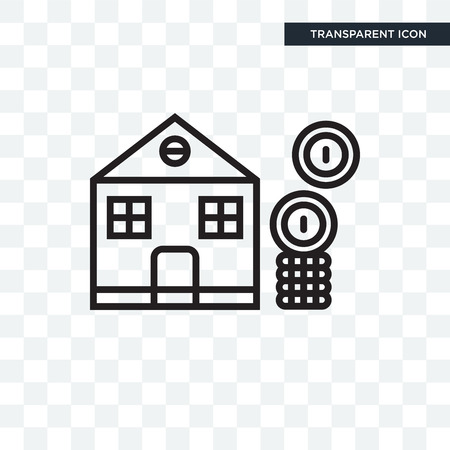 Mortgage  icon isolated on transparent background, Mortgage icon concept