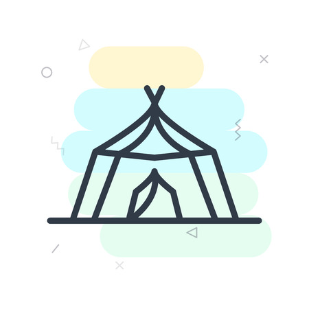 Tent icon vector isolated on white background for your web and mobile app design, Tent logo concept