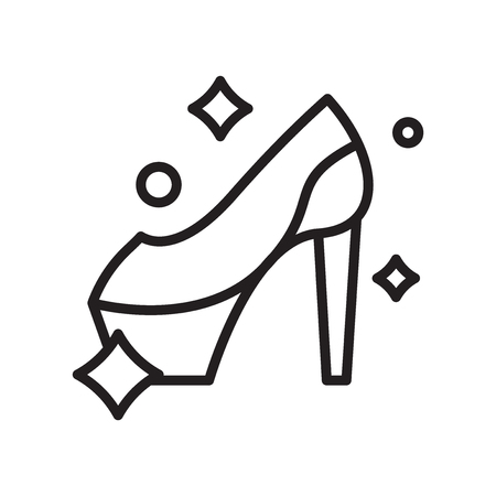 Illustration for High heel icon vector isolated on white background, High heel transparent sign , line or linear symbol and sign design in outline style - Royalty Free Image