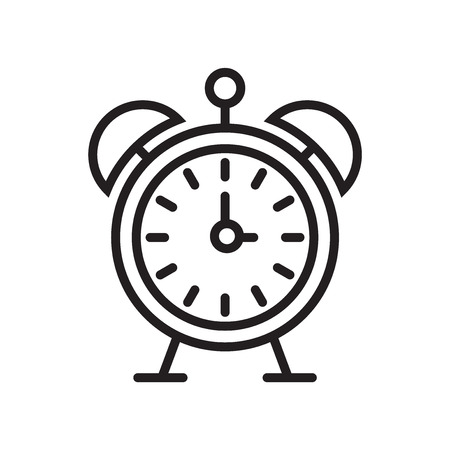 Alarm clock icon vector isolated on white background for your web
