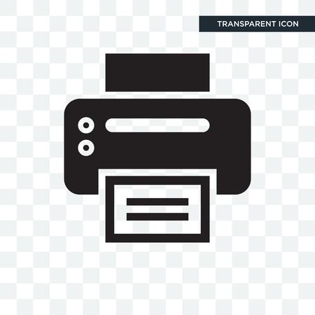 Illustration pour Office Printer vector icon isolated on transparent background - image libre de droit