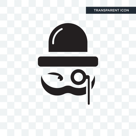 Illustration pour Sir vector icon isolated on transparent background, Sir logo concept - image libre de droit