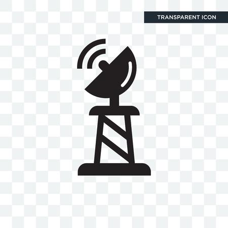 Illustration pour Satellite dish vector icon isolated on transparent background, Satellite dish logo concept - image libre de droit