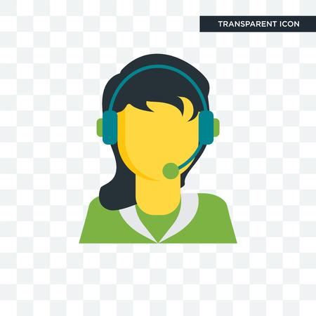 Illustration pour Telemarketer vector icon isolated on transparent background, Telemarketer logo concept - image libre de droit