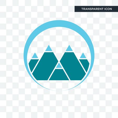 Illustration pour mont vector icon isolated on transparent background, mont logo concept - image libre de droit