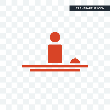 Illustration pour hospitality vector icon isolated on transparent background, hospitality logo concept - image libre de droit