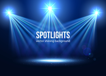 Illustration for Spotlight isolated vector. Scene illumination.  Transparent effects on a plaid dark background. Light Effects. Vector spotlight. Stage lights. - Royalty Free Image